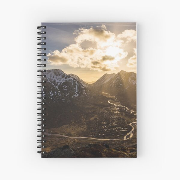Light In The Valley Spiral Notebook