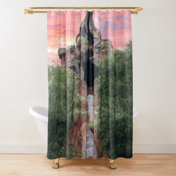 splash mountain sunset Shower Curtain