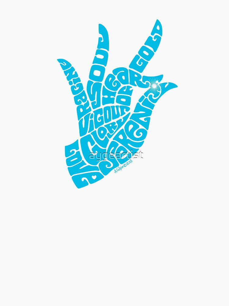 Heart Hand in Bright Sky Blue, Small Version by aygeartist