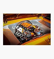 Orange Motor Photographic Print
