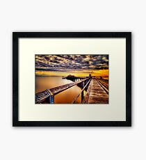 Kingfisher Jetty... Framed Print