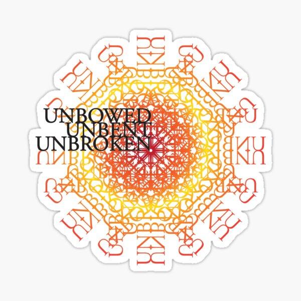 Spear Unbowed Unbent Unbroken Sticker