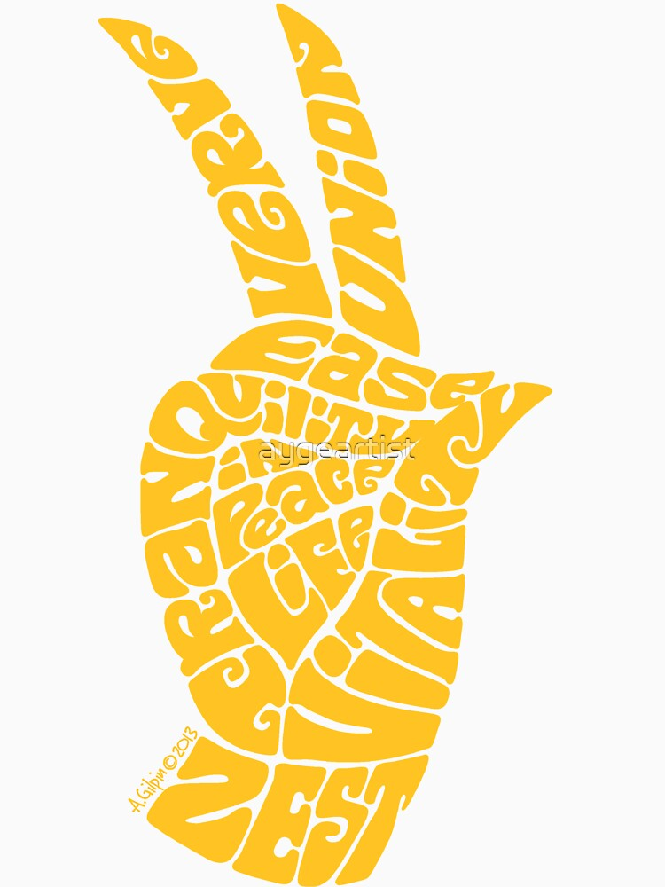 Life Force Hand in Rich Yellow, Large Version by aygeartist