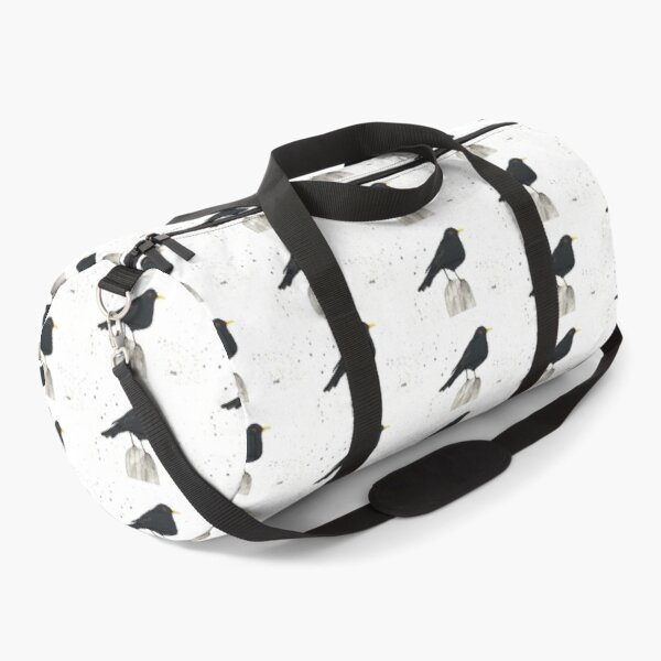 Black bird watercolour painting  Duffle Bag