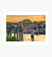 Royal Albert Bridge Art Print