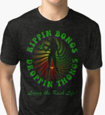Rippin Bongs-2 (outline) Tri-blend T-Shirt