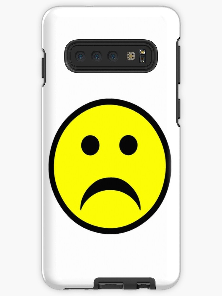 for Laptops Water Bottles and Cell Phones Sad Face Sticker