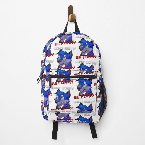 Furry Fandom  - Dont Worry Be Furry Funny Wolf Backpack