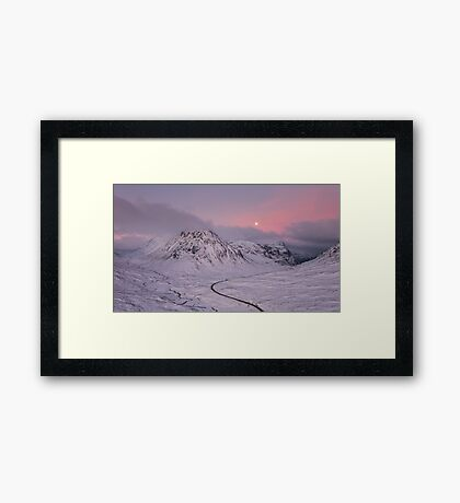 Glen Coe Moonlight Framed Print