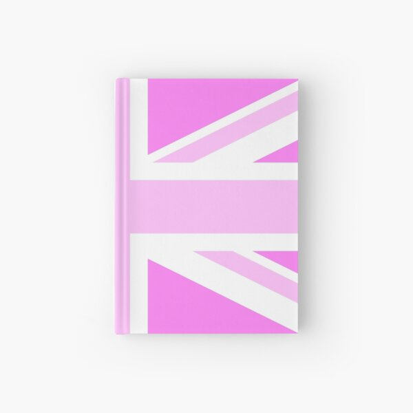 Union flag in Pink  Hardcover Journal