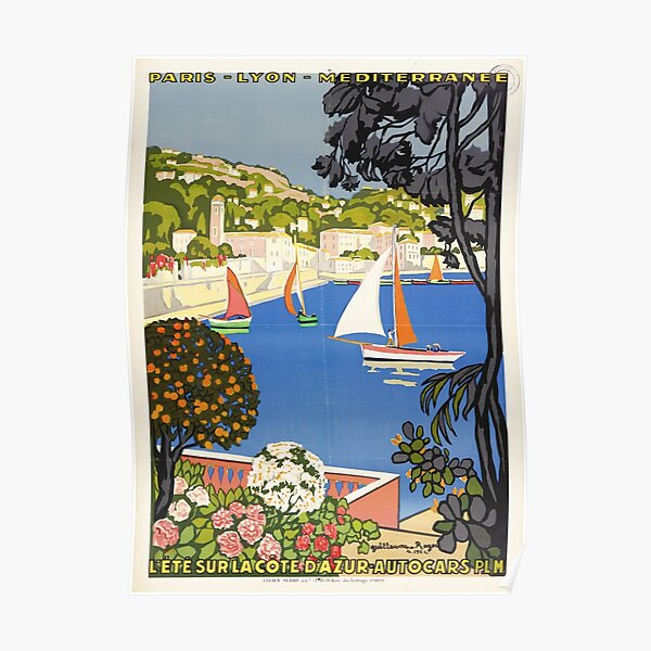 Vintage poster - Cote D Azur - French travel poster Poster