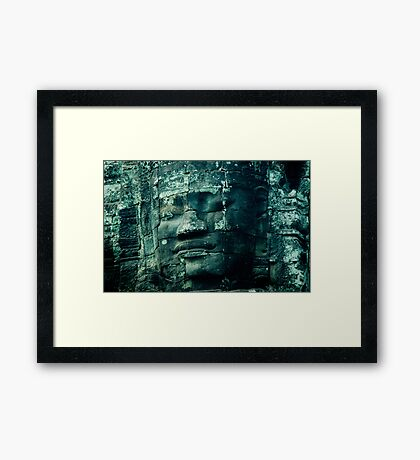 Faces of Bayon Framed Print