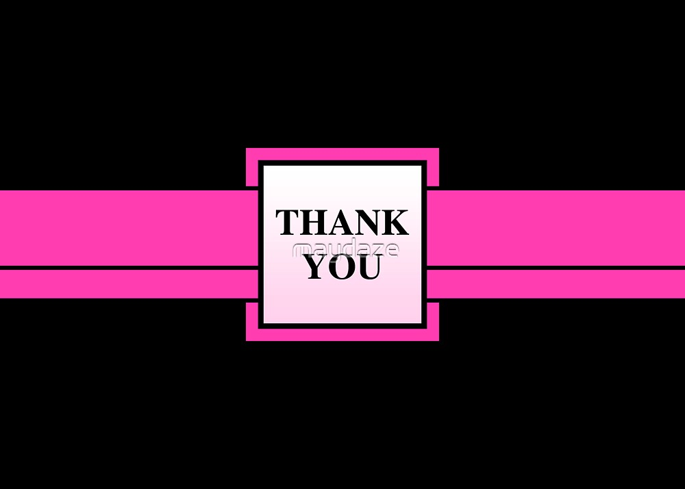 pink ribbon thank you by maydaze