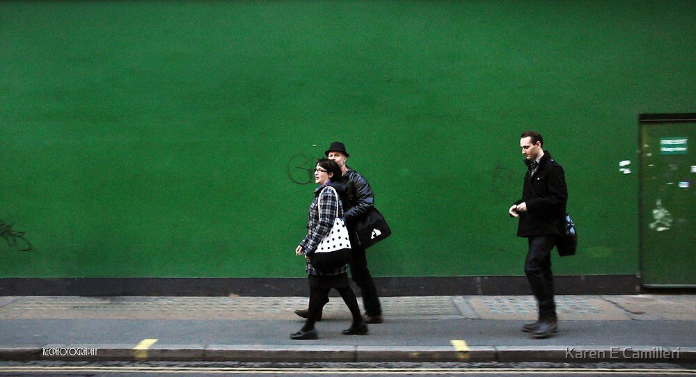 Green wall by Karen E Camilleri