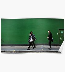 Green wall Poster