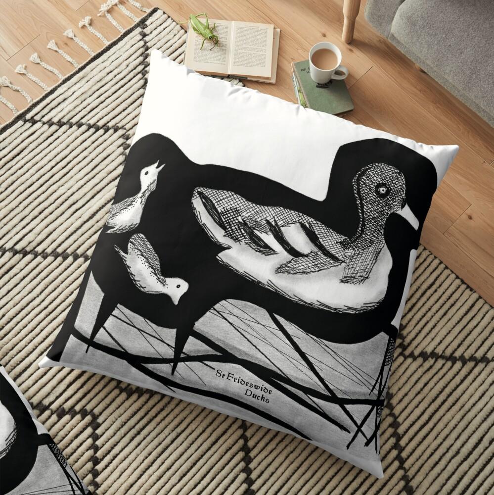 St Frideswide Ducks Floor Pillow