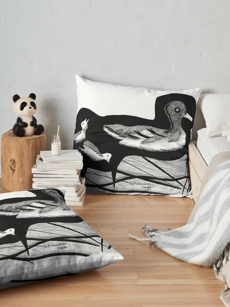 Alternate view of St Frideswide Ducks Floor Pillow