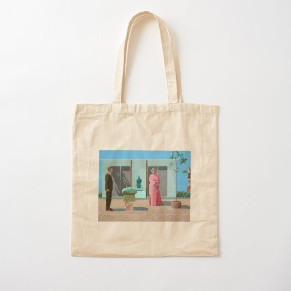 David Hockney - American Collectors (Fred and Marcia Weisman) Cotton Tote Bag