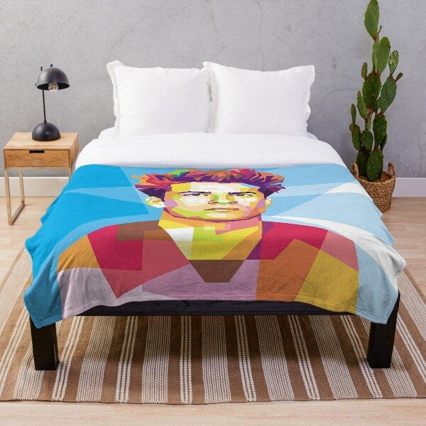Riqui Puig in Pop Art Portrait Style Throw Blanket