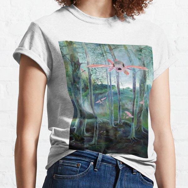 Fliegende Fische im phantastischen Wald Classic T-Shirt
