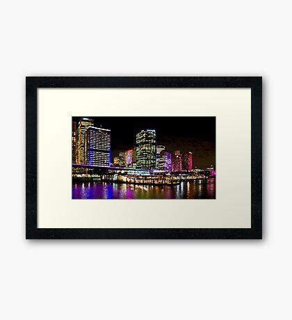 Vivid Circular Quay - Sydney - Australia Framed Print