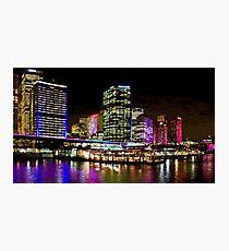 Vivid Circular Quay - Sydney - Australia Photographic Print