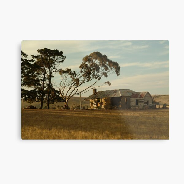 Joe Mortelliti Gallery - Old farm house, at Ceres, near Geelong, Victoria, Australia.  Metal Print
