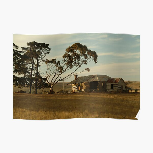 Joe Mortelliti Gallery - Old farm house, at Ceres, near Geelong, Victoria, Australia.  Poster