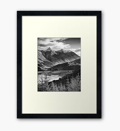 The Five Sisters of Kintail, Highland, Scotland Framed Print