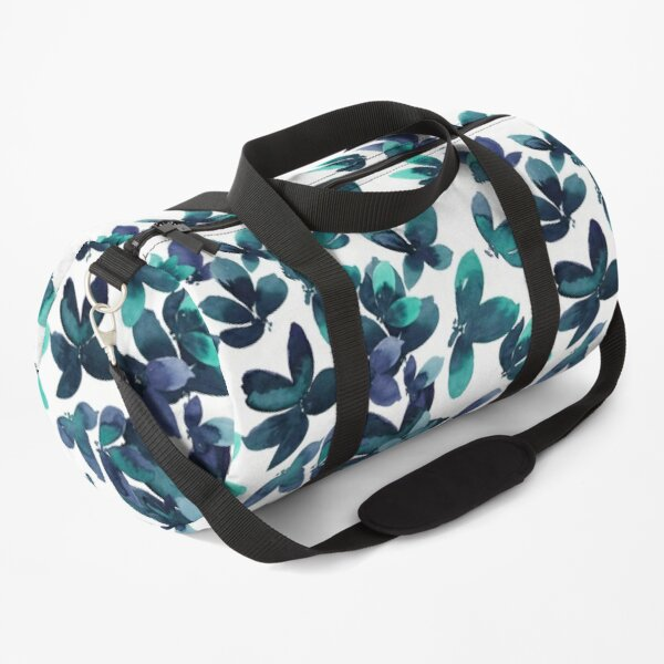 Born to Butterfly - Teal and Navy Palette Duffle Bag