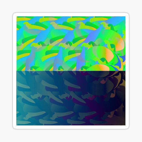 DolphinSunset Sticker