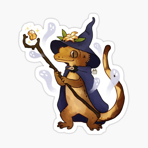 crested gecko: Bugsly Sticker