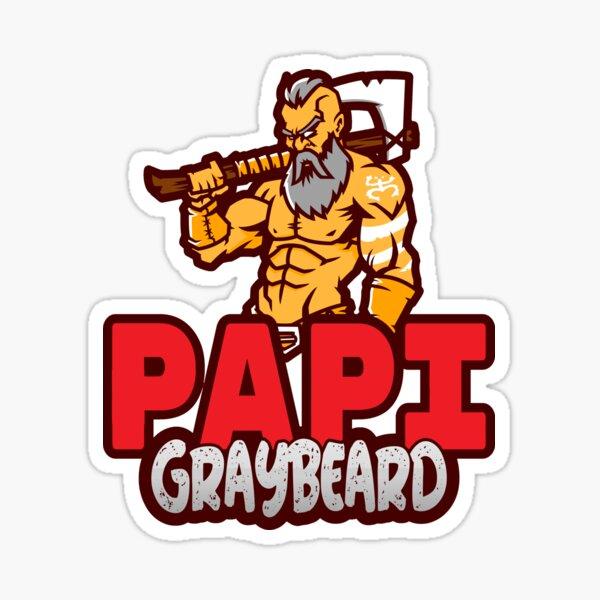 Papi GrayBeard Logo Sticker