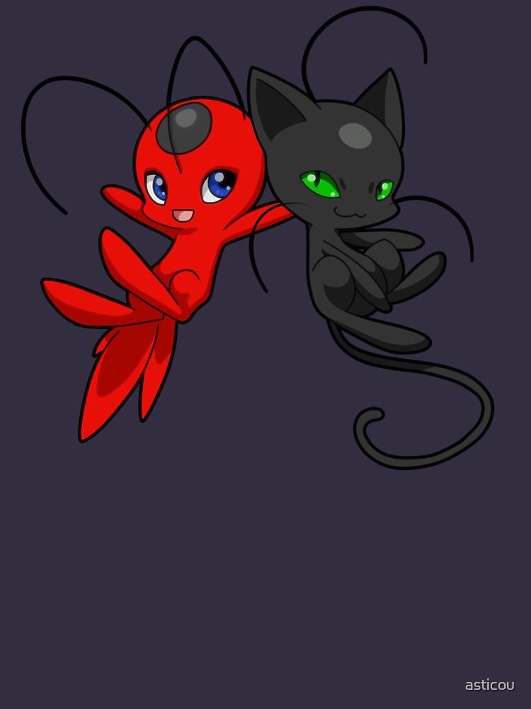 Miraculous Ladybug - Tikki & Plagg von asticou