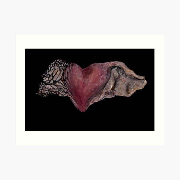 Flutter-by Heart Art Print