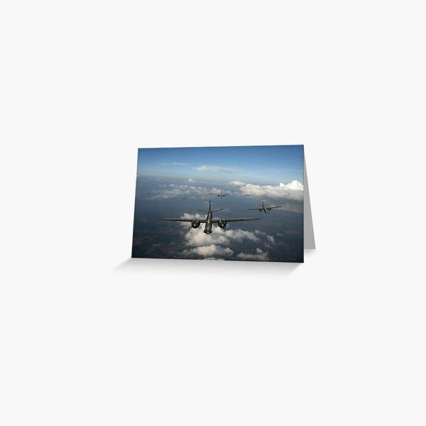 RAF Bostons at medium altitude Greeting Card