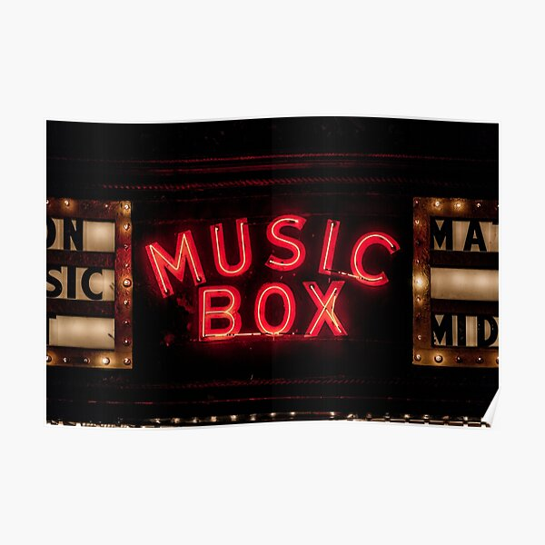 Music Box Neon Southport Chicago Poster