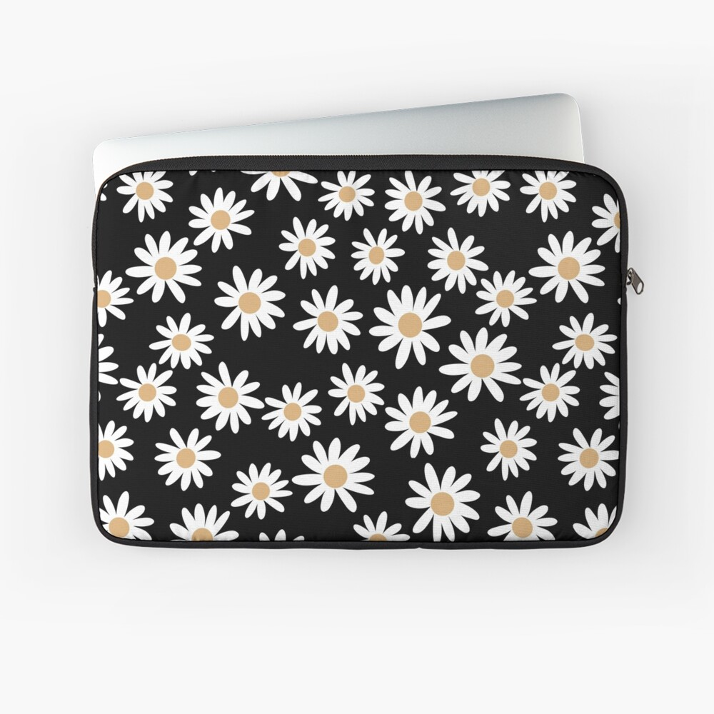 Daisies - daisy pattern, floral, florals, flower, retro, vintage, 70s, camel, brown, rust, earthy, terracotta Laptop Sleeve