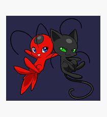 Miraculous Ladybug - Tikki & Plagg Fotodruck