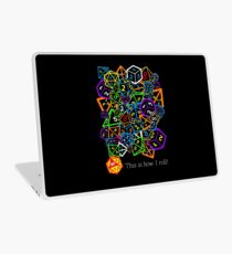 D&D (Dungeons and Dragons) - This is how I roll! Laptop Skin
