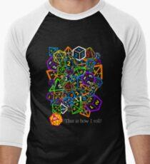 Camiseta ¾ bicolor para hombre D & D (Dungeons and Dragons) - ¡Así es como ruedo!