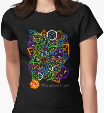 D&D (Dungeons and Dragons) - This is how I roll! Women's Fitted T-Shirt