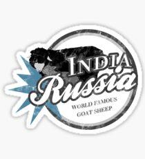 India Russia Sticker