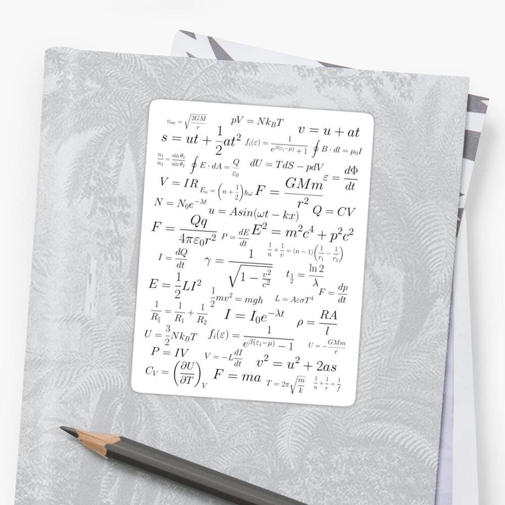 Física Pegatina