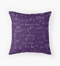 Physics - purple Throw Pillow