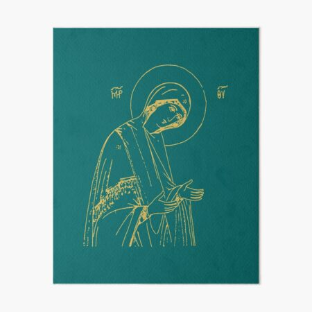 Theotokos Art Board Print