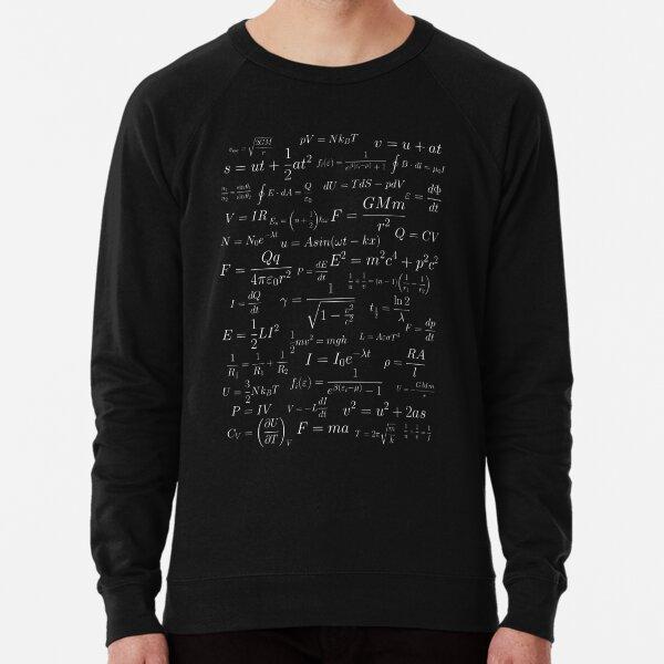 Física - blanco sobre negro Sudadera ligera