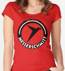 Messerschmitt Aircraft Company Logo (Black) Women's Fitted Scoop T-Shirt