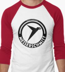 Messerschmitt Aircraft Company Logo (Black) Men's Baseball ¾ T-Shirt