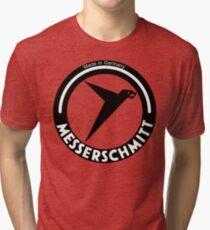 Messerschmitt Aircraft Company Logo (Black) Tri-blend T-Shirt